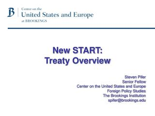 Steven Pifer Senior Fellow Center on the United States and Europe Foreign Policy Studies
