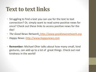 Text to text links
