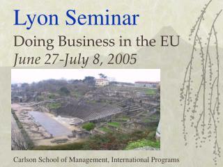 Lyon Seminar
