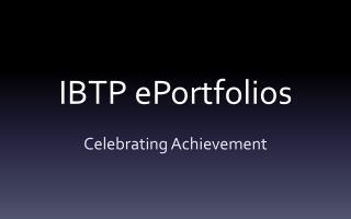 IBTP  ePortfolios