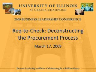 Req-to-Check: Deconstructing the Procurement Process