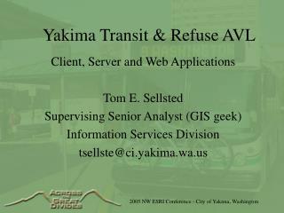 Yakima Transit & Refuse AVL