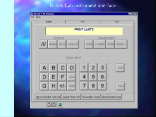 Biotek Lab instrument interface