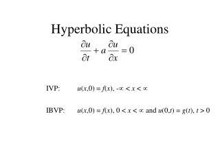 Hyperbolic Equations