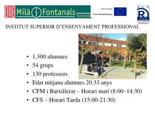 INSTITUT SUPERIOR D�ENSENYAMENT PROFESSIONAL