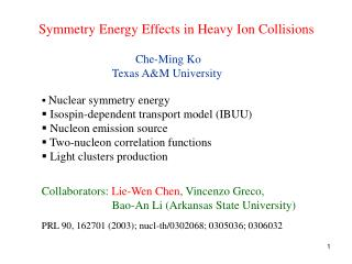 Symmetry Energy Effects in Heavy Ion Collisions