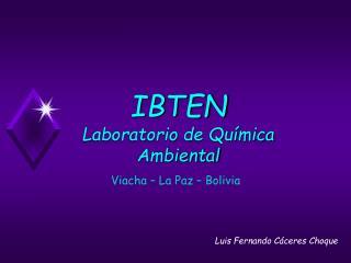IBTEN Laboratorio de Química  Ambiental