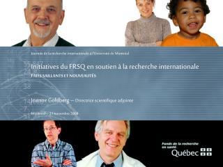 Journée de la recherche internationale à l'Université de Montréal