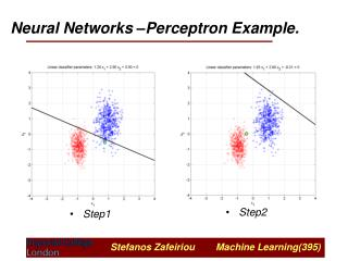 Neural Networks –Perceptron Example.