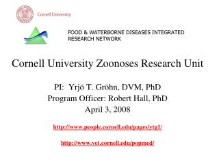 FOOD  WATERBORNE DISEASES INTEGRATED RESEARCH NETWORK