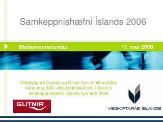 Samkeppnishæfni Íslands 2006