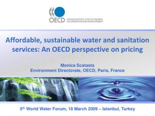 Affordable, sustainable water and sanitation services: An OECD perspective on pricing