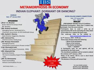 METAMORPHOSIS IN ECONOMY