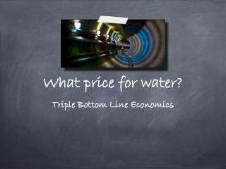 What price for water?