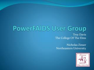 PowerFAIDS User Group