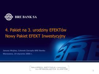4. Pakiet na 3. urodziny EFEKTów Nowy Pakiet EFEKT Inwestycyjny