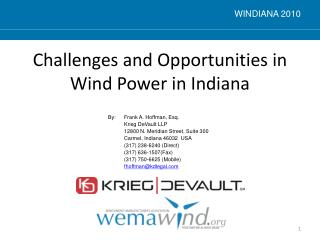 Challenges and Opportunities in Wind Power in Indiana