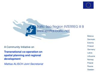 A Community Initiative on Transnational co-operation on spatial planning and regional development