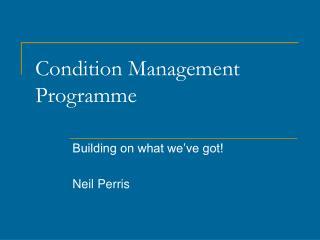 Condition Management Programme