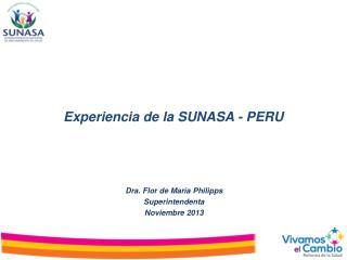 Experiencia de la SUNASA - PERU