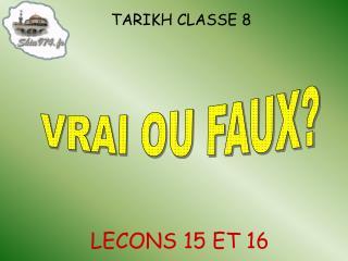 TARIKH CLASSE 8