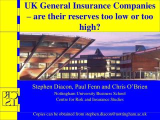 UK General Insurance Companies – are their reserves too low or too high?