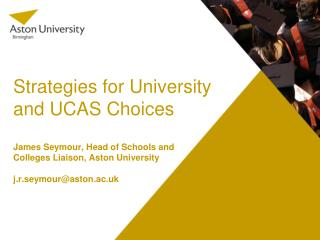 Strategies for University and UCAS Choices