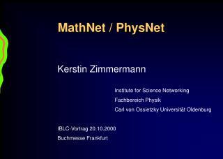 MathNet / PhysNet
