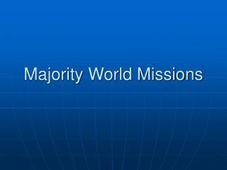 Majority World Missions