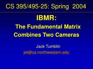 CS 395/495-25: Spring  2004