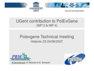 UGent contribution to PolExGene (WP 2 & WP 4)