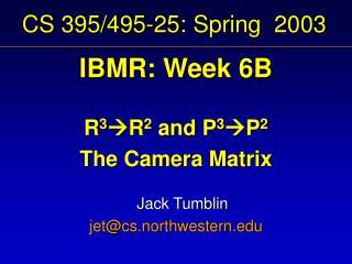 CS 395/495-25: Spring  2003