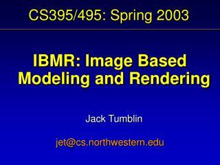 CS395/495: Spring 2003