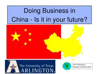 Doing Business in China - Is it in your future?
