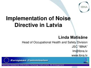 Implementation of Noise Directive in Latvia