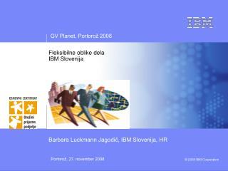 Fleksibilne oblike dela IBM Slovenija