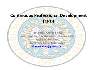 Continuous Professional Development (CPD)