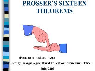 PROSSER S SIXTEEN THEOREMS