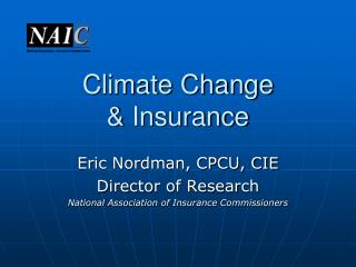 Climate Change & Insurance