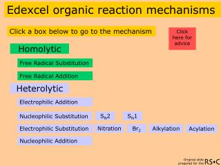 Edexcel organic reaction mechanisms