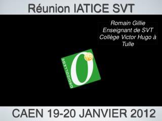 Réunion IATICE SVT