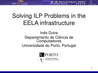 Solving ILP Problems in the EELA infrastructure