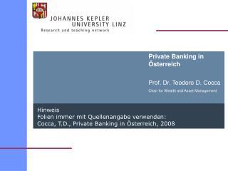 Private Banking in Österreich