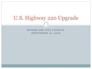 U.S. Highway 220 Upgrade