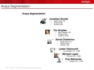 Avaya Segmentation