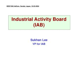 Industrial Activity Board  (IAB)