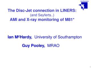 The Disc-Jet connection in LINERS: (and  Seyferts ..) AMI and X-ray monitoring of M81*