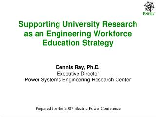 Supporting University Research as an Engineering Workforce Education Strategy