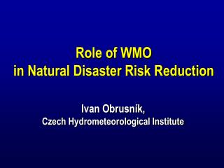 Established by the XIV. WMO  Congress in 2003   Strategy approved by the WMO  EC  LVI in June 2004