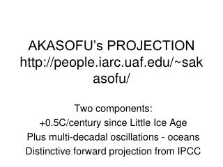 AKASOFU's PROJECTION people.iarc.uaf/~sakasofu/